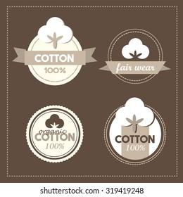 Natural cotton symbols