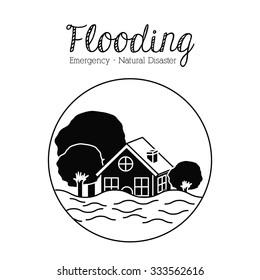 natural disaster design, vector illustration eps10 graphic