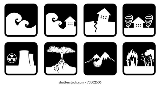 Natural disasters and catastrophes icon (devoted events in Japan)