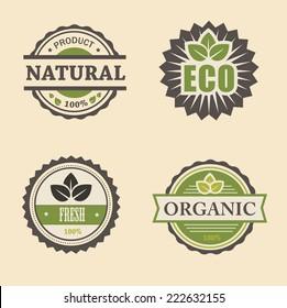 natural eco design elements set