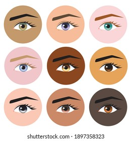 Natural Eyes Colors for Women Faces, Different Nine Eyes Colors