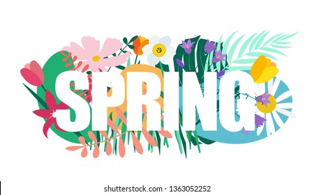 Natural Flowers Spring Background Vector Illustration EPS10