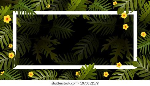 vector tropical summer print exotic jungle stock vector royalty