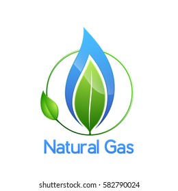 Natural gas logo, isolated on white, vector