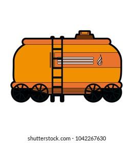 Natural gas tank on train wagon