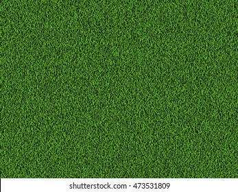 Natural grass texture background in bright yellow green color tone. Top view. Vector eps10