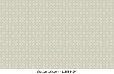Natural gray color knitting seamless pattern. Laconic inimal repeatable motif for background, wrapping paper, fabric, surface design