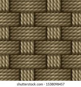 Natural Hemp Fiber Sisal Rope, Manila Rope ,Jute Rope weaving pattern wicker background vector illustration