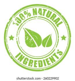 Natural ingredients stamp
