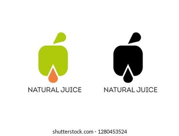 Natural Juice - logo company. Vector illustration.