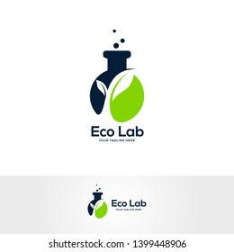 natural lab logo designs concept, science and medicine creative symbol, eco lab logo template