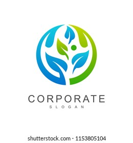 natural leaf logo template, organic icon, fresh leaf vector, nature logo,health symbol