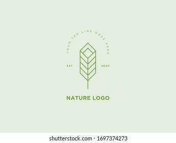 Natural Leaf Vintage Logo design