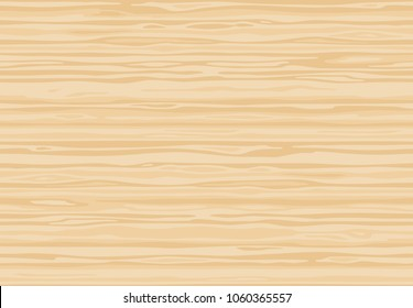 Natural light beige wooden wall plank, table or floor surface. Cutting chopping board. ?artoon wood texture, vector seamless background.