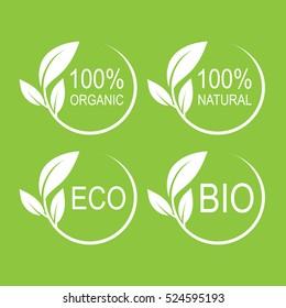 Natural logo vector design set.