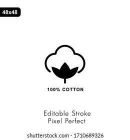 Étiquettes et badges de draps en coton bio - Icône Vectorielle Ronde