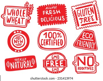Natural Organic Food Stickers