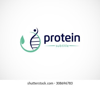 natural protein logo design