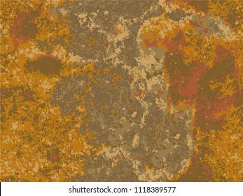 natural rusty texture, imitation of rust. seamless Vector pattern