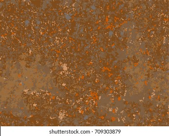natural rusty texture, imitation of rust. seamless Vector pattern