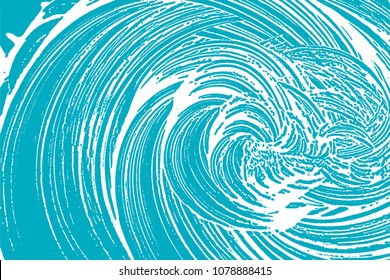 Natural soap texture. Adorable green blue foam trace background. Artistic pleasant soap suds. Cleanliness, cleanness, purity concept. Vector illustration.