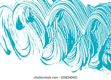Natural soap texture. Amusing green blue foam trace background. Artistic remarkable soap suds. Cleanliness, cleanness, purity concept. Vector illustration.