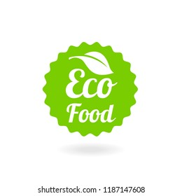 Natural Vector Stamp Illustration. Eco friendly concept for stickers, banners, cards, advertisement. Ecology nature design.