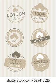 Natural vintage cotton symbol stamp