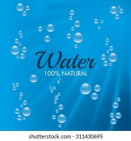 Natural water design, vector illustration eps 10.