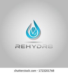Natural water drop vector Logo Design inspiration.