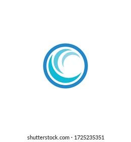 Natural Water wave Logo design vector