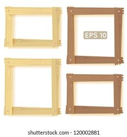 Natural wood frames set, picture