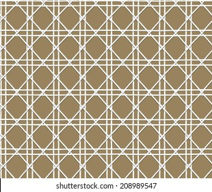 Natural woven cane - seamless background