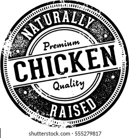 Naturally Raised Chicken Sign/Stamp