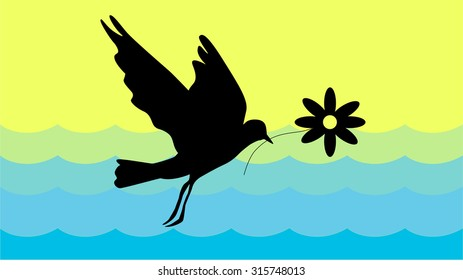 nature and animals.birds flying