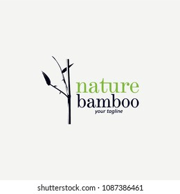 Nature Bamboo Logo Designs Template