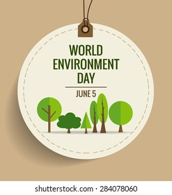 Nature banner. World environment day concept. Vector illustration