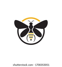Nature Bee Honey Logo Vector image