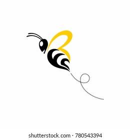 Nature Bee Honey Logo Vector