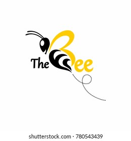 Nature Bee Honey Logo Vector