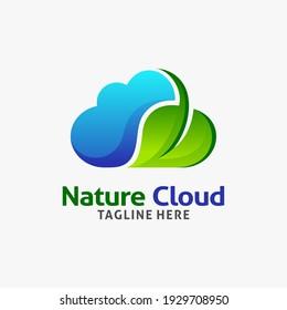 Nature cloud logo design inspiration