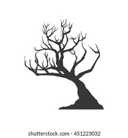 Nature concept represented by Dry tree icon. Isolated and flat illustration