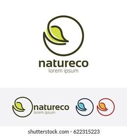 Nature Eco, Vector logo template