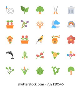 Nature and Ecology Flat Vector Icons 5