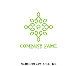 Nature Element Logo Design Template