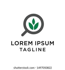 Nature Finder logo designs concept vector, Leaf Finder logo