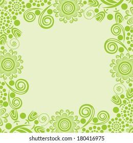 Nature floral pattern background vector illustration