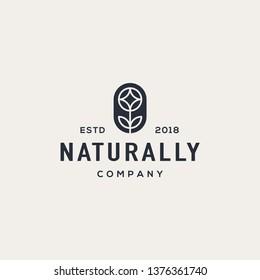 Nature flower logo design concept. Universal flower design.