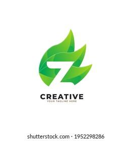 Nature Green Leaf Letter Z Logo Design. monogram logo. Green Leaves Alphabet Icon. Usable for Business, Science, Healthcare, Medical and Nature Logos.Flat Vector Logo Design Template Element. Eps10