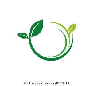 nature herbal organic leaf vector logo design